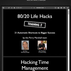 Download Perry Marshall - 80/20 Life Hacks