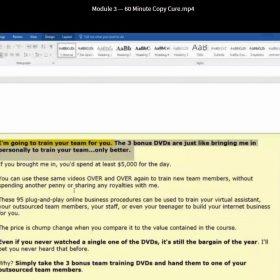 Download Doberman Dan and Terry Dean - 60 Minute Copy Cure