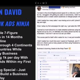Download Kevin David – Facebook Ads Ninja Masterclass 2019