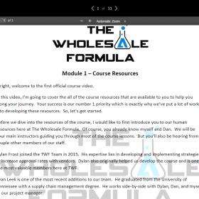 Dan Meadors – The Amazon Wholesale Formula 2019