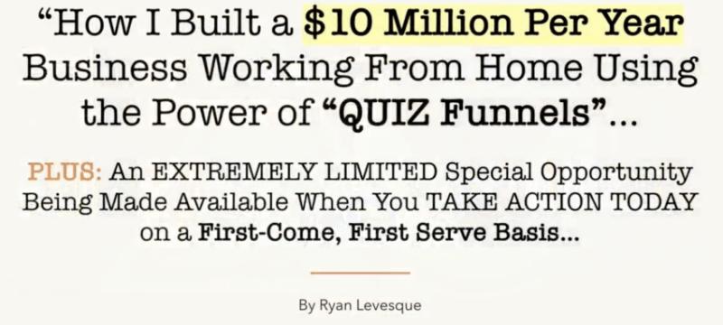 Download Ryan Levesque – The Quiz Funnel Masterclass
