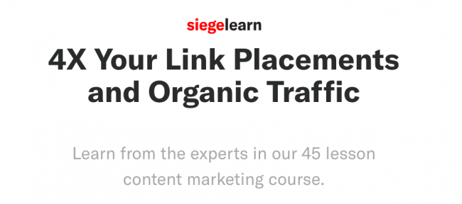SiegeLearn – Content Marketing Course